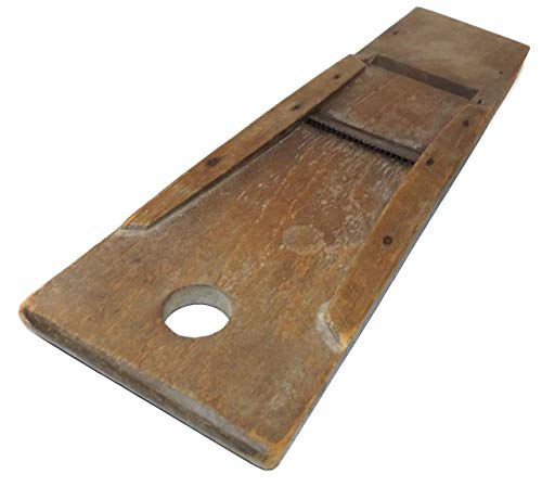 Primitive Antique Wooden Kraut Cutter Cole Slaw Cutting Board Double Sided