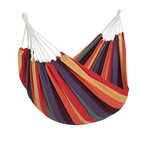 Yorbay Hamaca de algodón 200 x 150 cm, 200kg de Capacidad de Carga, con Bolsa para Viaje Camping Jardín (Multicolor)