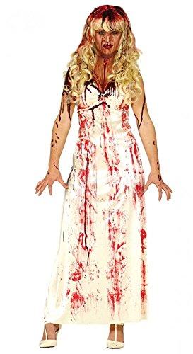 shoperama Blutbesudeltes Carrie Damen-Kostüm Prom Nightmare Zombie Braut Horror Jungfrau Blut Horrorfilm, Größe:M