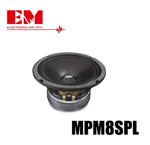 Electronic Melody EM Altoparlante Casa home cassa da 20 cm 200mm 8 Ohm 8' pollici Potenza Max 250W RMS 120 MPM8SPL Utilizzabile come Ricambio per Casse Acustiche hi-fi casa