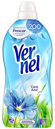 Vernel Suavizante Concentrado Cielo Azul Lavadora Ropa, 76 Dosis (1.748 L)