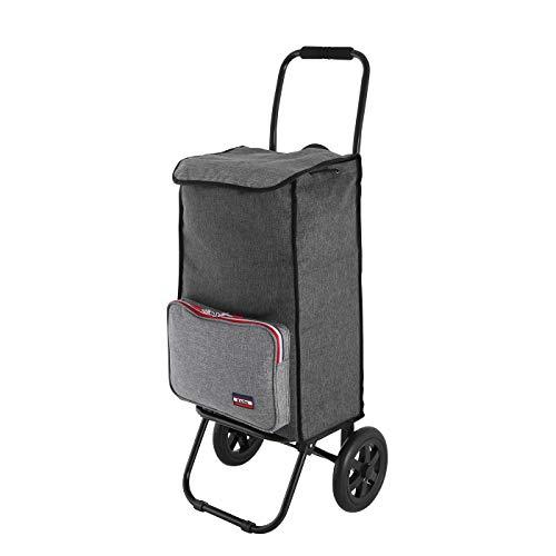 Rada Einkaufstrolley ER/1 40 Liter, robuster Marktroller, Einkaufswagen, Handwagen, mit 2 Rollen, wasserabweisender Transportwagen mit großen Rädern, (Grey Sports)