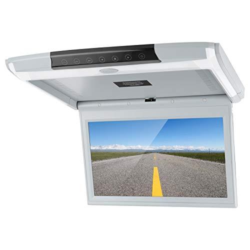 Okuyonic Monitor De Coche Abatible, con Monitor De Techo De Coche USB con 1 TV De Techo para Personas para Vehículos Comerciales para Caravanas