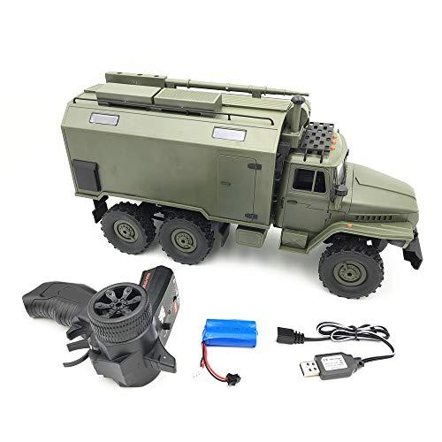 HSKB WPL B36 RC Auto Elektrisches Ferngesteuertes Spielzeugs, RC Car Remote Control LKW Crawler Military Truck 2,4 G 6WD Buggy 1/16 RTR Fahrzeug Anfänger Geschenk