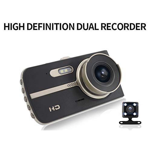 TongBao Dual Lens Dash Cam für Autos vorne und hinten mit Nachtsicht, 1080P FHD Mini-Autokamera, 170 ° Weitwinkel-Fahrrekorder mit Parkmonitor, Loop-Aufnahme