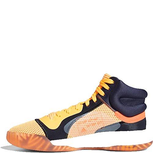 adidas Men's Marquee Mid Vegas Basketball Shoes FlashOrange/White/LegendInk Size 13