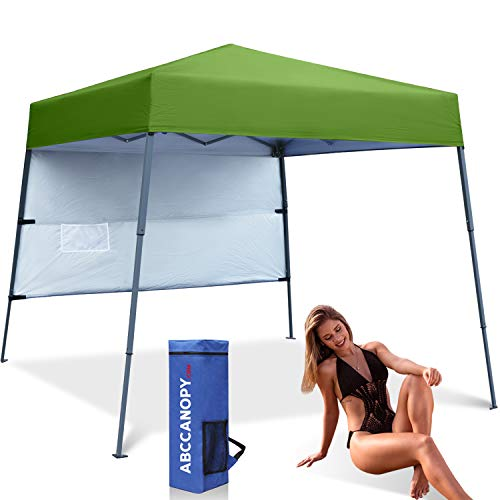 ABCCANOPY Pop-Up Canopy Tent Sun Protection Comapct and Lightweight Beach Canopy Slant Leg Backpack Canopy
