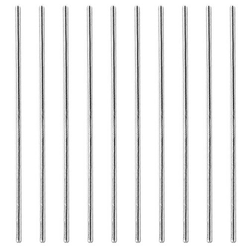 Sutemribor 3mm x 100mm Model Straight Metal Round Shaft Rod Bars for DIY RC Car, RC Helicopter Airplane (10 PCS)