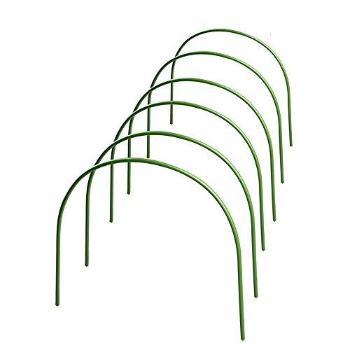JTWEB 6 Stück Gewächshaus Hoops,Pflanztunnel für Pflanzenabdeckung, kunststoffbeschichtete Stahlreifen für Gewächshaus, Garten und Pflanzen (30x45 cm)