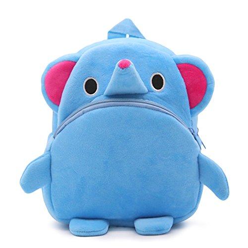 Elonglin - Zainetto per bambini con motivo animaletto in peluche, per bambini e bambine, età 1-3 anni