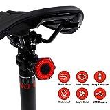 リアバイクテールライト、超高輝度スマート自転車テールライト、超高輝度USB充電式サイクリングブレーキテールライト、防水スマート自転車ライト、高輝度LEDアクセサリー