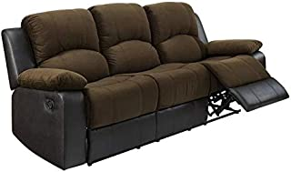 BOWERY HILL Martin Chocolate Leatherette Motion Sofa