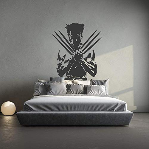 TJJF Wandaufkleber Wolverine X-Men Abnehmbare Vinyl Wandtattoo Aufkleber Home Room Decor Art.-Nr.