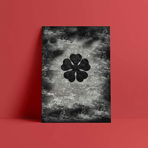 Arte de pared de pintura en lienzo con trébol negro trébol de cinco hojas cartel nórdico minimalismo para el hogar decoración del dormitorio-Pintura de Diamante 5D de bricolaje-Regalo de Navidad