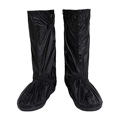 Unisex Men Women Reusable Rain Snow Shoe Covers Black White Waterproof Overshoes