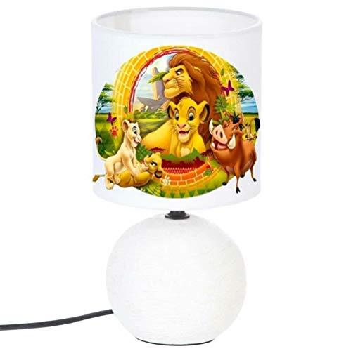 PRESENT Lampe de chevet LE ROI LION ET SES AMIS - création artisanale. Personnalisé avec Le prénom de l'enfant blanc N° 3