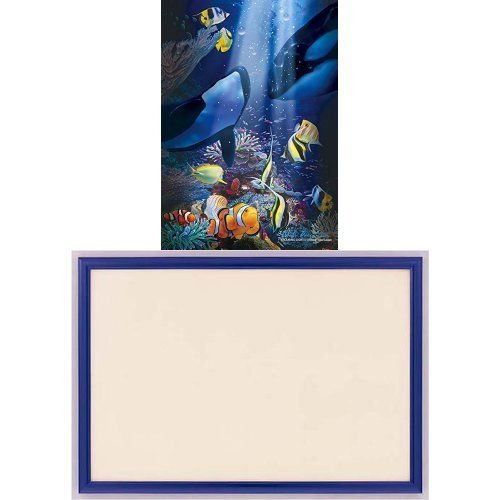 108ピース 光るジグソーパズル ラッセン エンデュアリング ライト(18.2x25.7cm)+木製パズルフレーム ウッディーパネルエクセレント シャインブルー (18.2x25.7cm)