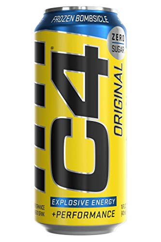 C4 Original Sugar Free Sparkling Energy Drink Frozen Bombsicle | Pre Workout Performance Drink with No Artificial Colors or Dyes | 16oz Pack of 12