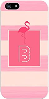 IPH5 CASE Stripes, Pink Flamingo- B