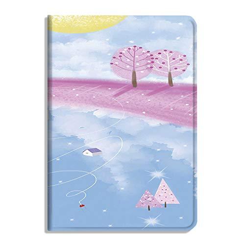 Funda para iPad Air 4ª Generación de 10,9 pulgadas 2020, iPad Air 4 Funda de piel sintética con soporte protector para Apple Cover Dreamy pintado a mano Ilustraciones -25