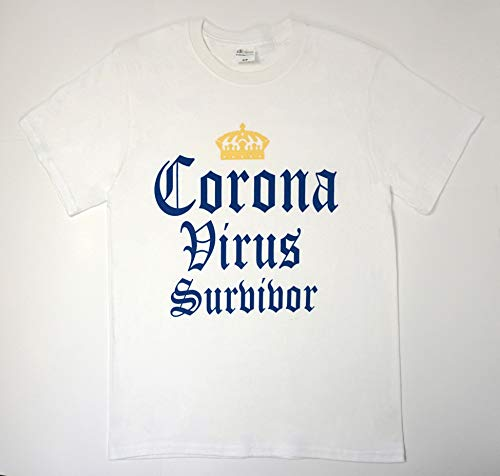 Corona Survival Casual Tee Shirt (S) White