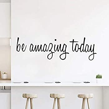 Wall Decals Stickers Inspirational Be Amazing Today Vinyl Positive Wall Saying Peel and Stick Motivational Quotes Decal for Home Bedroom Living Room Decor Decoration