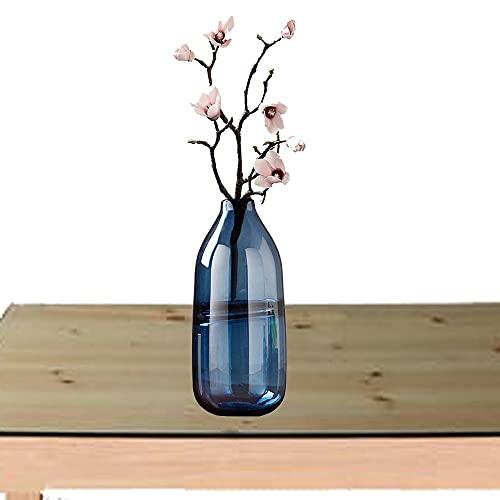 LXLAMP jarrones Decorativos de Suelo Altos,jarrones Decorativos Cristal para la Decoración del Escritorio de la Oficina en el Hogar,Cena,Fiesta y Bodas (Color : Smoky Blue)