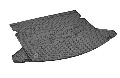 Passgenau Kofferraumwanne geeignet für Mazda CX-5 ab 2017 ideal angepasst schwarz Kofferraummatte + Gurtschoner