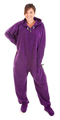 Forever Lazy Footed Adult Onesie - Purple People Sleeper - L