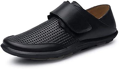 Qiusa Boy& 039;s Men Mesh atmungsaktiv SchwarzWalknig Schuhe mit Klettverschluss UK 7.5 (Farbe   -, Größe   -)