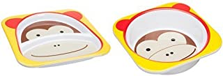 Skip Hop Zoo Melamine Plate & Bowl Set, Monkey