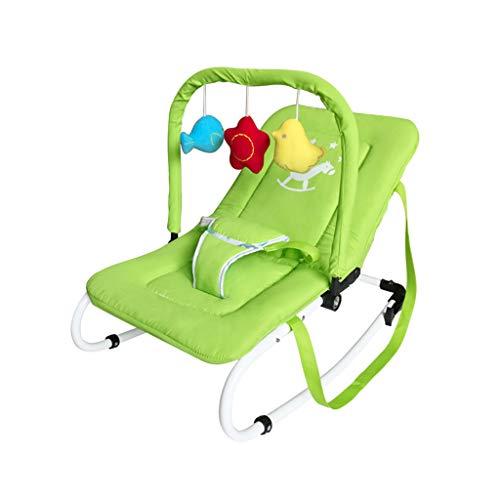 Xiao Jian- Fauteuil berçant à Bascule pour bébé Chaise de Confort de Couchage pour Nouveau-né Enfants Lit de Berceau électrique inclinable Chaise berçante bébé (Couleur : Green)