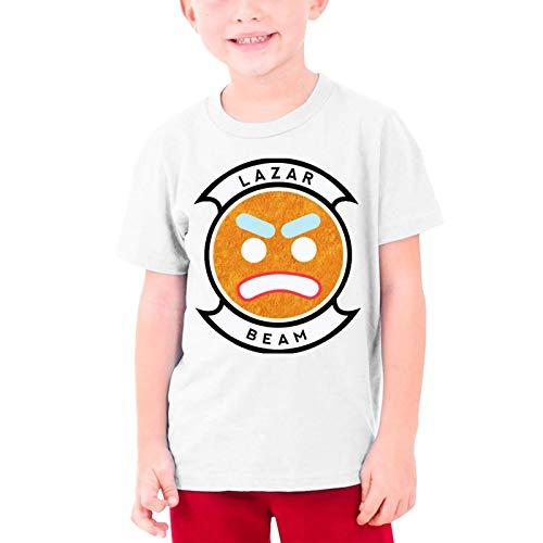 VJSDIUD Teenagers Lazarbeam Graphic Tees Divertido 3D Impreso Camisetas de Manga Corta para jóvenes Top Medium