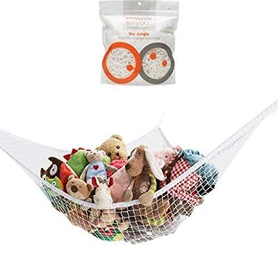 Stuffed Animal Toy Hammock, Premium Plush Toy Hanging Organizer, SKY JUNGLE, Jumbo Large Storage Mesh Pet Net by Mayapple Baby/Roving Cove