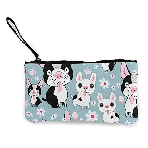XCNGG Funny Dog Fashion Coin Purse Bag Canvas Small Change Pouch Multi-Functional Cellphone Bag Wallet Cosmetic Makeup Bag