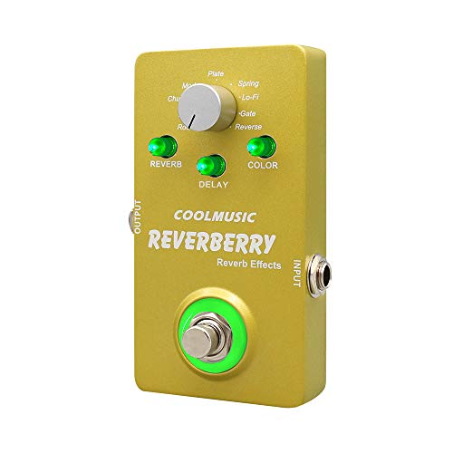 Coolmusic Reverberry Digital Reverb Guitar Effect Pedal with 9 effects