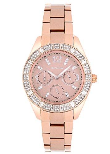 QUANTUM Damen-Armbanduhr Impulse Chronograph Quarz Edelstahl beschichtet IML352.25