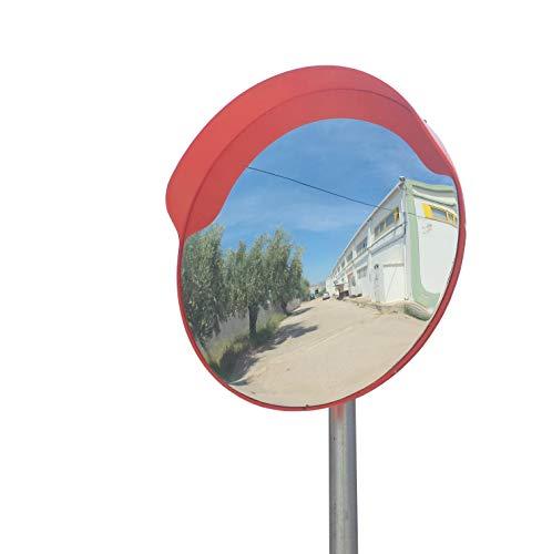 SNS SAFETY LTD Specchio Convesso di Sicurezza da Traffico, Elimina Angoli Ciechi Interni ed Esterni, per Strade, Magazzini, Garage e Negozi. (Diametro 60 cm, Staffe di Fissaggio Tubi 60 mm)
