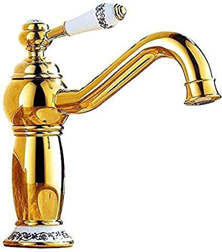 Grifo de cocina Grifo de lavabo Grifo de lavabo de baño Grifo de lavabo Grifo de latón Agua fría y caliente Grifo de baño dorado giratorio Grifo de cocina Inodoro Grifo de cocina