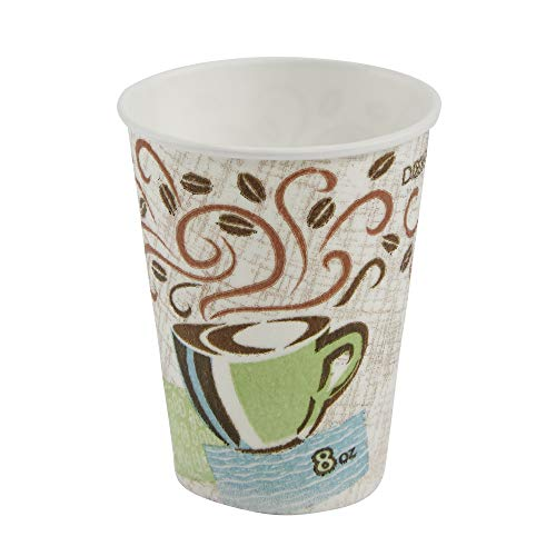 Dixie 5338CD PerfecTouch Hot Cups, Paper, 8oz, Coffee Dreams Design (Case of 1000)