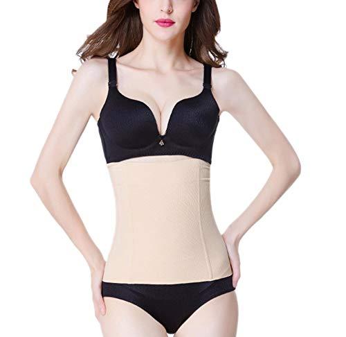 ALBATROZ Women's Polycotton Body Shaper Slimming Corset Waist Trainer Cincher Underwear Tummy Control Belt Underbust Plus Size Shapewear (Skin, Free Size - Fits Upto Waist 38 Inches)