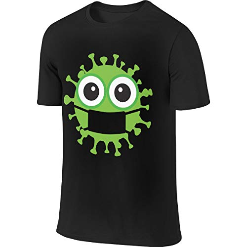 B. Bone Covid19-Coronavirus-Virus-Green-Cartoon Men's Short Sleeve T-Shirt Athletic Casual Tee Shirts for Men Stylish T Shirt