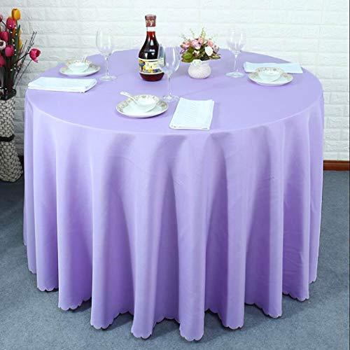 Samer tafelkleed in solide kleur, onmiddellijke bijzettafel, groot, rond, vergadering van bruiloftsfeesten, rood