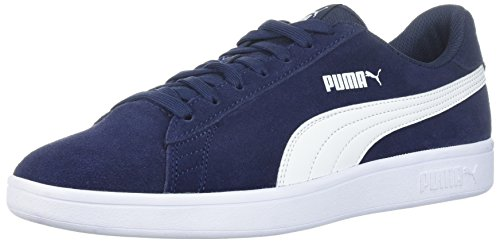 PUMA Men's Smash v2 Sneaker, Peacoat-White, 10.5 M US