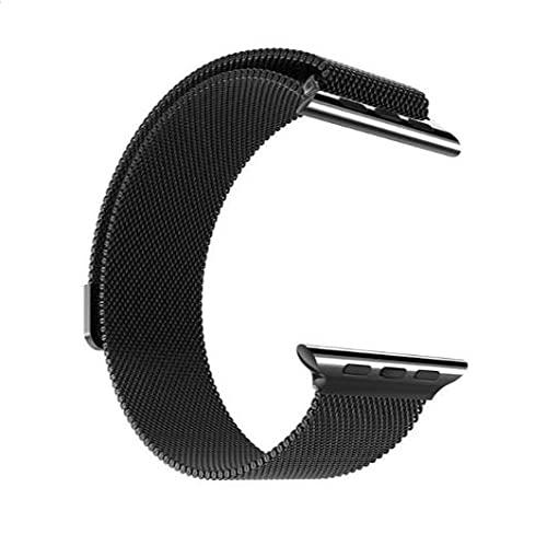 Pulseira Milanese Aço Para Smartwatch 42mm 44mm Cor Chumbo