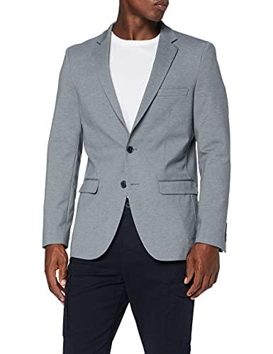 Amazon-Marke: MERAKI Herren Blazer, Grau (Grey Marl), 52, Label: 42