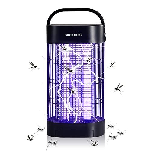 Splonary Lámpara Antimosquitos, Mata Mosquitos Electrico con área de 80m² y 20W de Potencia 1800V, Aparato Antimosquitos Polillas para Dormitorio Salón Cocina Jardín Exterior Cámping, Negro
