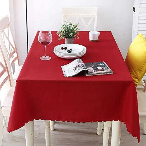 JiaQi Schlichter Farbton Tischdecken Eco-freundlich,Wrinkle Resistant Waschbar Polyester Tabelle Tuch,Buffet Auf Hochzeiten Oder Weihnachtsessen In Ihrem Zuhause-rot A 120x140cm(47x55inch)