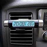 Okdeals Thermomètre de voiture 2 en 1 avec écran LCD pratique et rétroéclairé.
