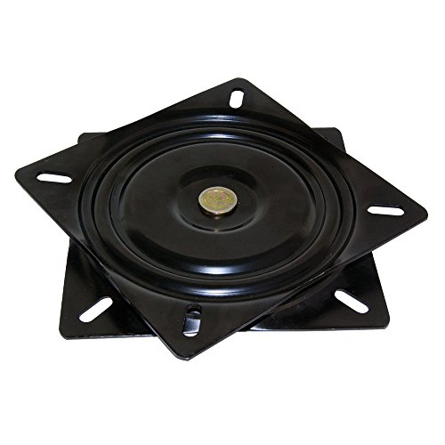 Emuca -Base giratoria/plataforma rotatoria de 360° para mueble/pantalla TV/monitor de acero color negro